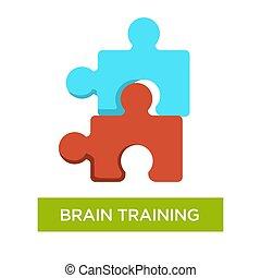 Brain training Alzheimer disease prevention jigsaw or puzzles