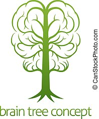 Brain Tree Concept