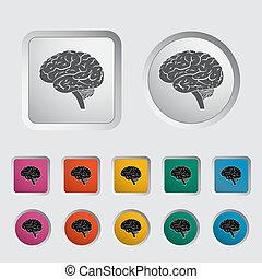 Brain. - Vector illustration of a human brain. EPS 8.