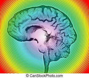 brain wave background texture