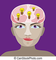 brain with a light