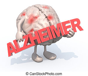 "brain with arts that embraces a word ""alzheimer"""