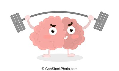 Brain with barbell.