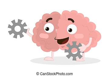 Brain with gears.