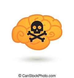 Brain with icon