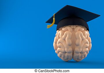 Brain with mortarboard