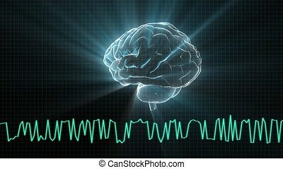 brain with wave - X-ray Brain to represent the theme of ...