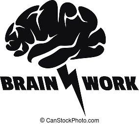 Brain work logo, simple style