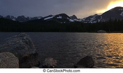 Brainard Lake at Sunset Colorado Landscape - Brainard Lake...