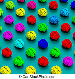 Brains low poly illustration pattern - Low-poly colorful ...