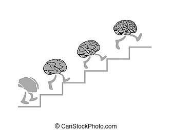 Brains run are climbing the stairs, the Smartest - the Higher.