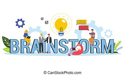 Brainstorm and creative mind concept. Generate new idea