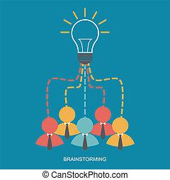 Brainstorm and Teamwork concept