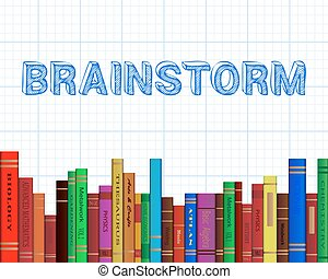 Brainstorm Books Graph Paper - Brainstorm word on graph...