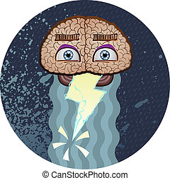 Brainstorm Cartoon Character