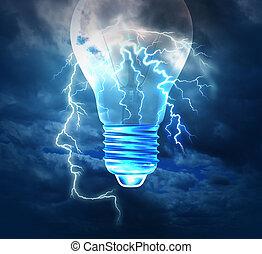 Brainstorm Concept - Brainstorm creative idea concept or...