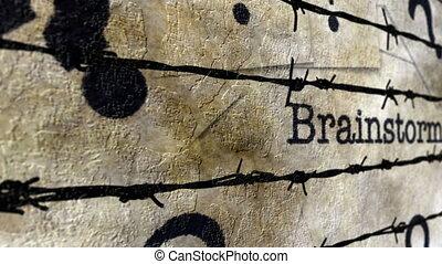 Brainstorm grunge concept