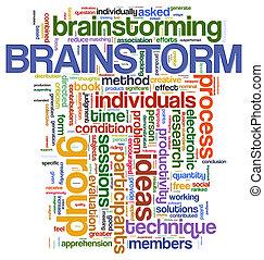 brainstorm, słowo, skuwki