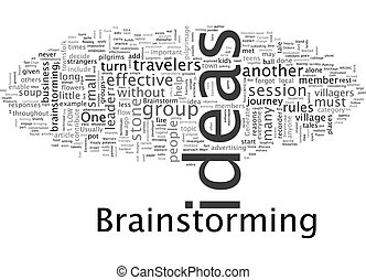 Brainstorm text background wordcloud concept