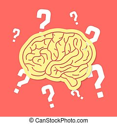 brainstorm with outline brain icon