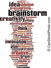 Brainstorm word cloud