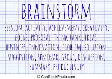 Brainstorm word cloud