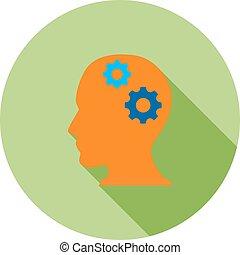 Brainstorming - Brain, internet, knowledge icon vector...