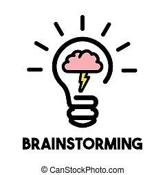 Brainstorming bulb icon