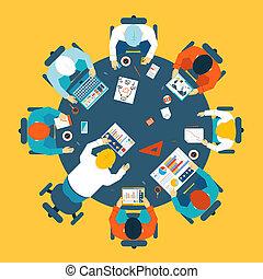 brainstorming, conceito, trabalho equipe