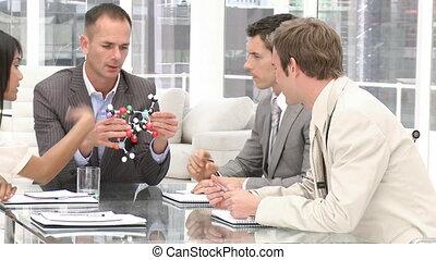 brainstorming, di, squadra affari