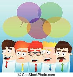 brainstorming., homens negócios