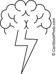 Brainstorming icon, outline style