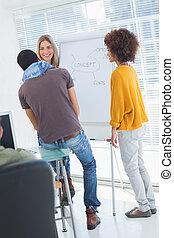 brainstorming, junto, equipe, criativo