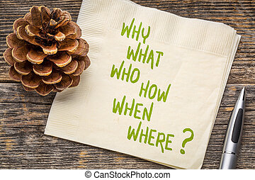 brainstorming question on napkin