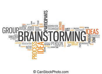 """""""brainstorming"""", szó, felhő"""