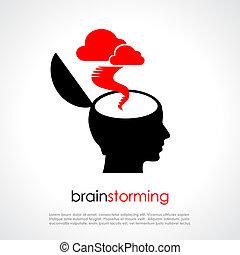 Brainstorming vector poster