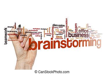 Brainstorming word cloud concept