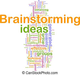Brainstorming word cloud - Word cloud concept illustration...