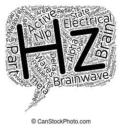 brainwaves, freqüências, texto, fundo, parte, conceito, wordcloud
