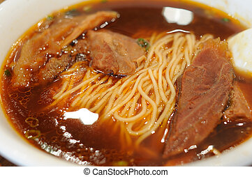 Braised beef noodle soup - Chinese dishes, braised beef ...