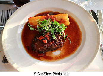 Braised Beef with Dauphinoise Potatoes