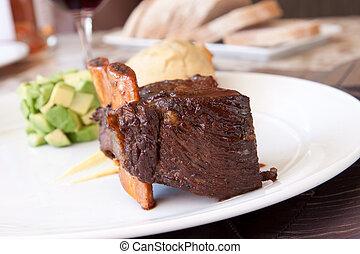 Braised Cumbrae's Short Rib - Short rib, cooked to ...