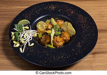 Chinese pork meatballs - Braised pork balls in soy sauce - ...