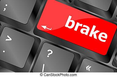brake button on computer pc keyboard key