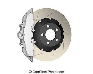 Brake caliper isolated on white background