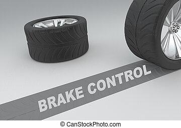 Brake Control concept - 3D illustration of 'BRAKE CONTROL'...