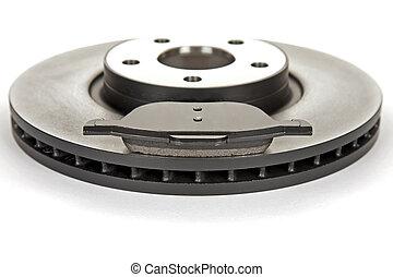 brake disc and brake pad - new brake disc and a new brake...