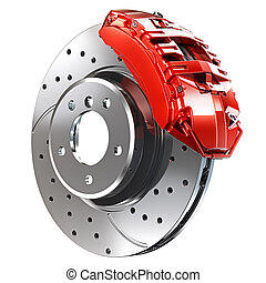 BRAKE DISC - Brake on a white background