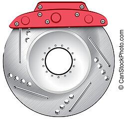 brake isolated vector illustration eps 10