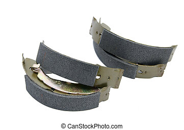 brake pads for cars - set of brake pads for a car on a white...